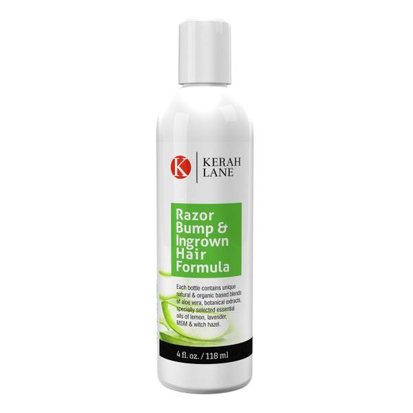 Kerah Lane Organic Razor Bump & Ingrown Hair Formula 4 Oz for Women & Men:  Best Treatment Serum for Ingrown Hairs, Acne, Razor Bumps, Razor Burn: Use
