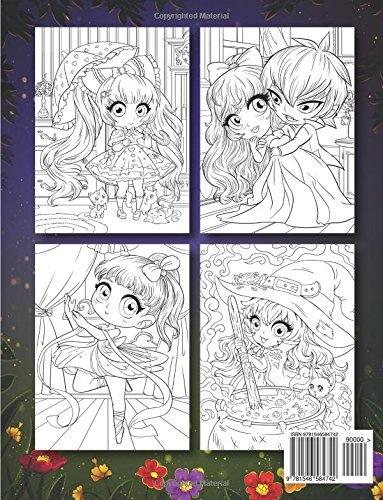 Cute Chibi Girls A Cute Coloring Book With Adorable Kawaii
