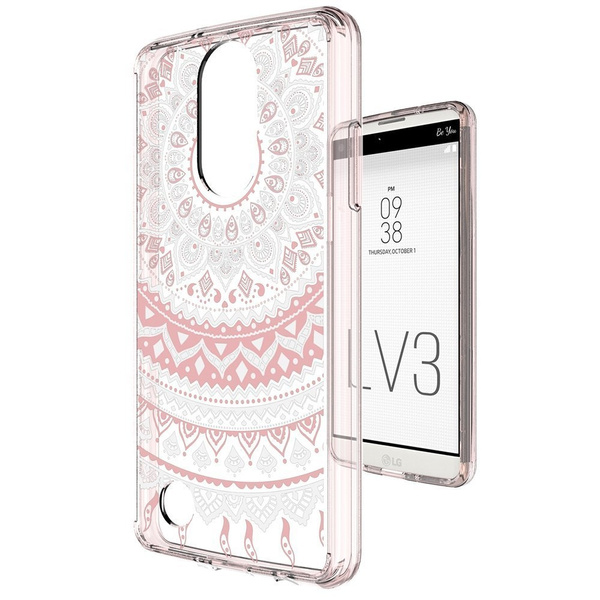 LG Phoenix 3 Case,LG Fortune Case,LG Aristo Case,LG Rebel 2 LTE/Risio 2/K8  2017 Cases Clear with Screen Protector,Anoke Cute PC Back TPU Bumper Girls