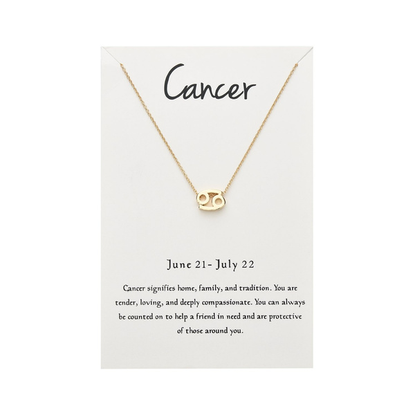 12 Constellations Necklace Cancer Charm
