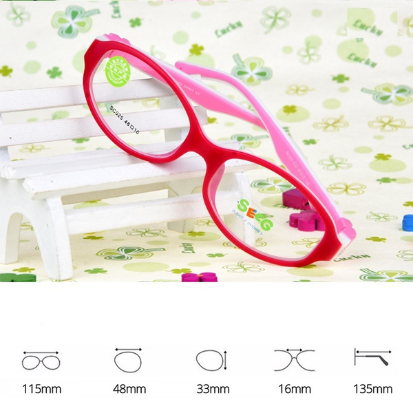 24bfa83823ae SECG Cute Solid Detachable Optical Children Glasses Frame Silicone ...