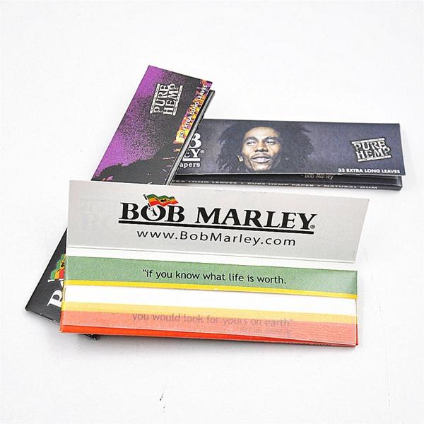 wish bob marley king rolling paper 110mm pure hemp cigarette