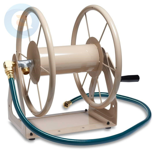 Steel Wall and Floor Mount Garden Hose Reel Water Pipe Storage Holder Holds  200-Feet of 5/8-Inch Hose