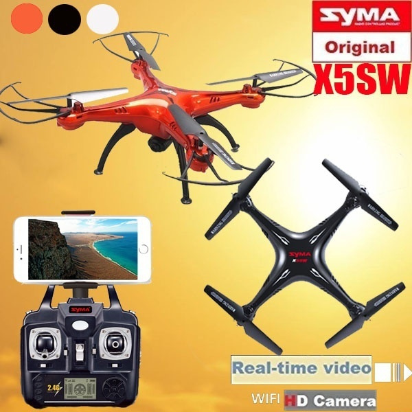 Hot Sales Syma X5SW Quadcopter Drone with Camera RC Helicopter Professional  Drones RC Helicopter(Color:White/Black/Red)