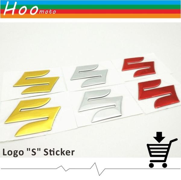 """FOR SUZUKI 3D STICKER Badge Decal 3D Tank Wheel Logo /""""S/"""" Sticker For Suzuki"""