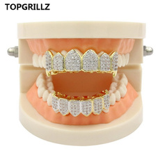 Cubic Zirconia, Grill, hip hop jewelry, fang