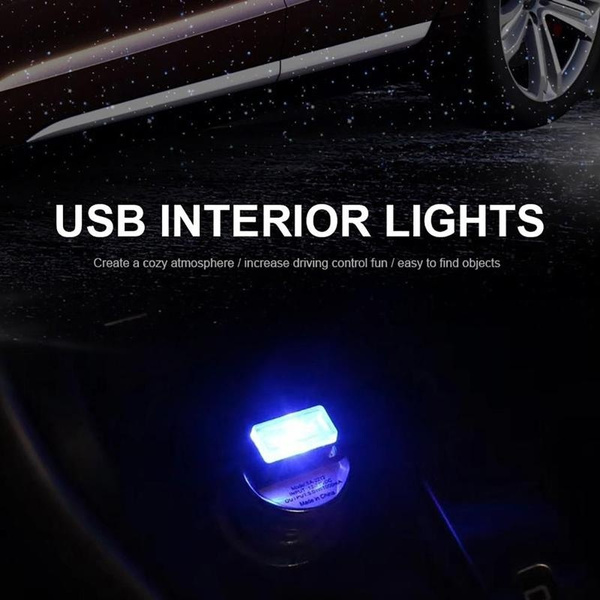 Wish | 4 Colors USB LED Mini Wireless Car Interior Lighting Kit Car Styling  Interior Decoration Atmosphere Light White Blue Pink