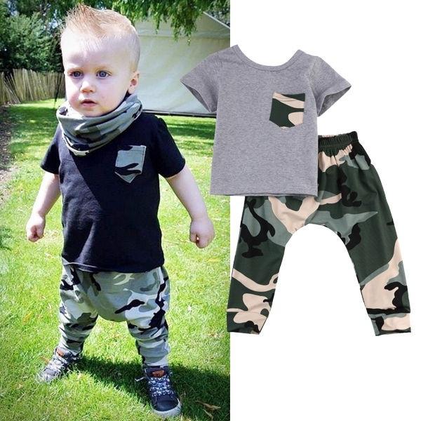Compre Bebê Recém Nascido Meninos Meninas T Shirt Calças Roupas