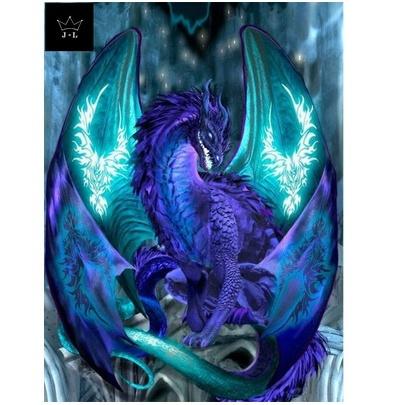 Dinosaur DIY 5D Diamond Painting Embroidery Dragon Cross Stitch Kits Home Decor