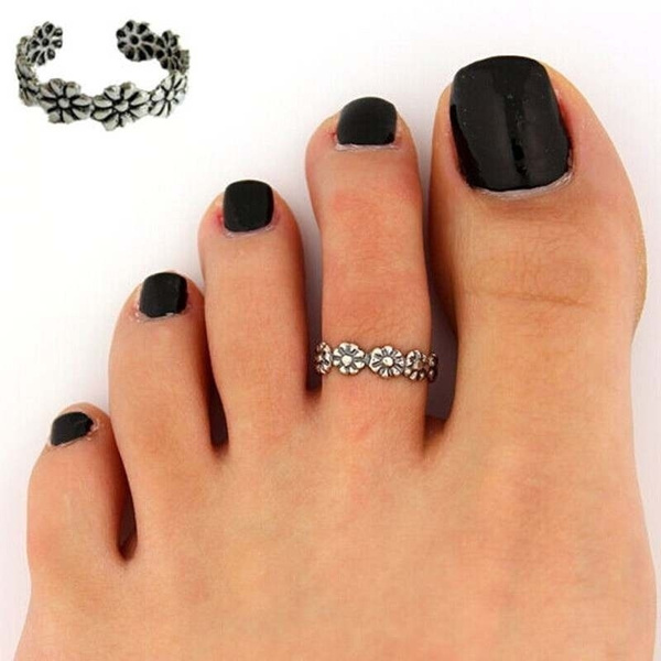 Gifts Under 20 Toe Ring Foot Accessories Band Toe Ring Foot Ring Foot Jewelry Silver Toe Ring Adjusable Toe Ring