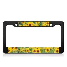 numberplatesurround, frontlicenseplate, Sunflowers, numberplateframe