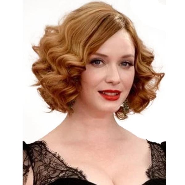 Prime 1920S Medium Curly Hair Natural Wig Black Blonde Flapper Schematic Wiring Diagrams Amerangerunnerswayorg