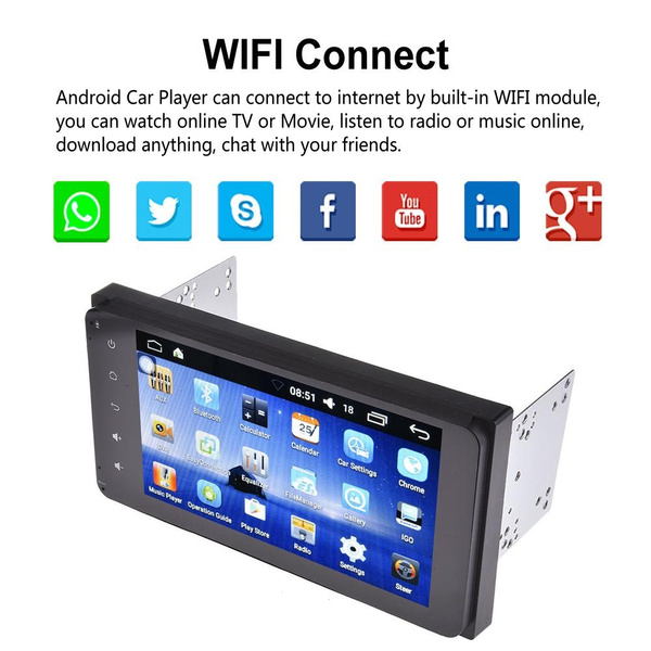 Ultra-thin Ultra-light 7-inch 2DIN Toyota Car Dedicated Android Quad-core  6 0 Car Multimedia WIFI Player GPS Navigator HD Reversing AV Mobile Phone