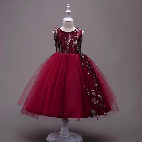 d03ba65d26fc 2018 Baby Embroidered Formal Princess Dress for Girl Elegant ...