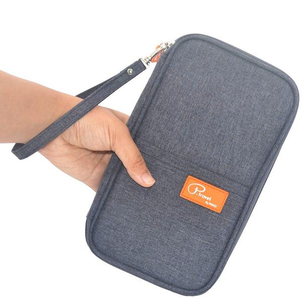 8c7266f45018 Travel Wallet Passport Holder, RFID Document Organizer by FLYMEI