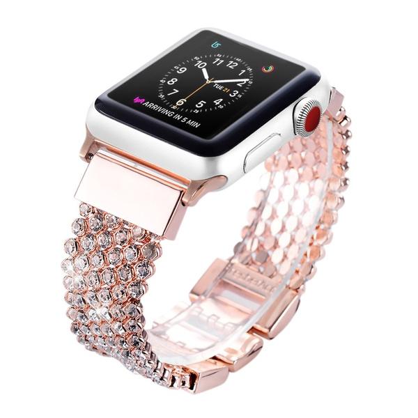 2a91eea9c Apple Watch Band 42mm for Women Girls, FresherAcc Bling CZ Crystal ...