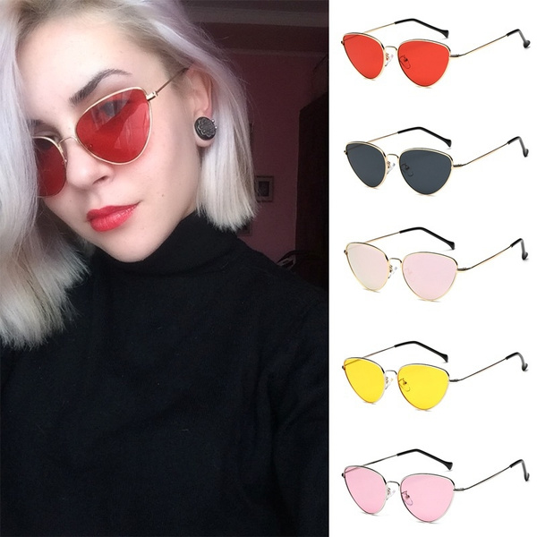 9896093369ea8 New Women's Fashion Cat Eye Sunglasses Charm Men Women Personality ...