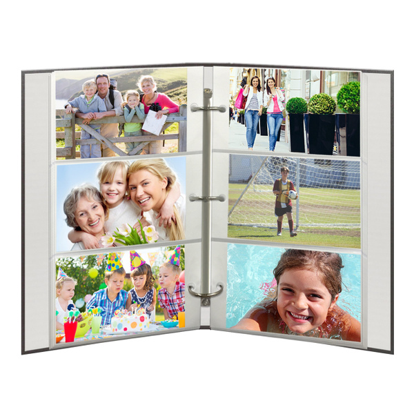 Geek 3 Ring Photo Album 300 Pockets Hold 4x6 Photos Gray