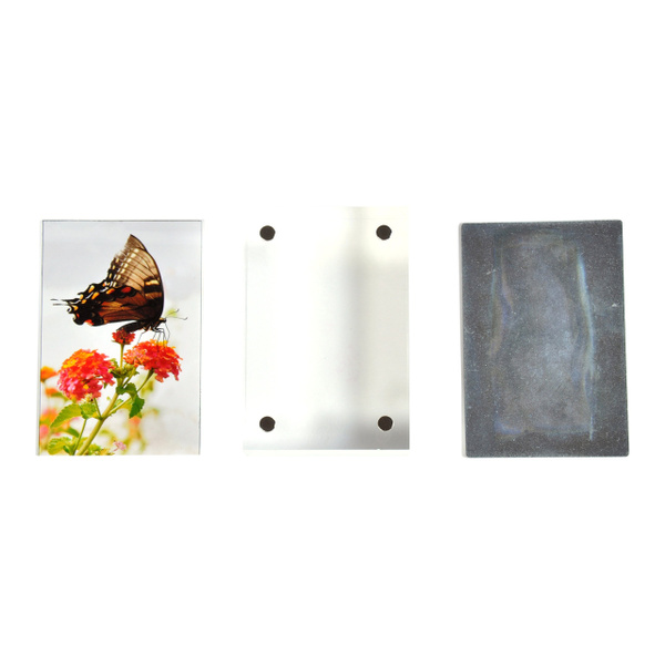 Wish 2 Pk Wallet Photo Sized Magnetic Photo Frame Elegantly