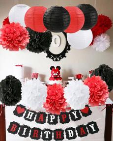 Mickey, Flowers, decoration, Birthday