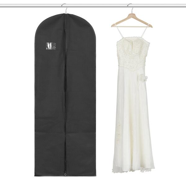 "Titan Mall Suit//Long Dress Garment Bag Black Robe Garment Bag 24/"" x 60/"" Gown Bag"