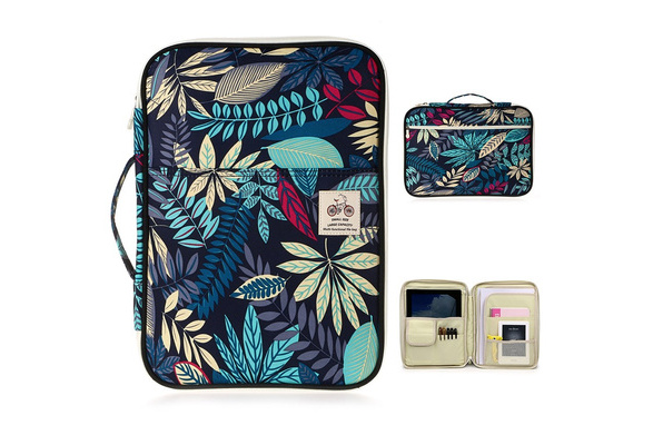 0d8b18f084a3 BTSKY New Multi-functional A4 Document Bags Portfolio Organizer--Waterproof  Travel Pouch Zippered Case for Ipads, Notebooks, Pens, Documents (Dark ...