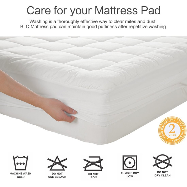 Geek Maevis Mattress Pad Cover 100 300tc Cotton With 8 21 Inch