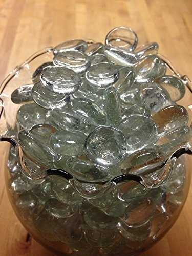 Wish Dashington Flat Clear Marbles Pebbles 5 Pound Bag For Vase