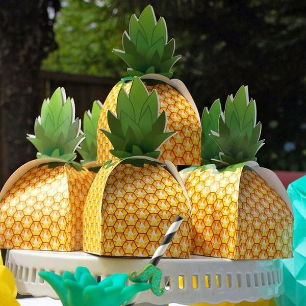 AerWo 48pcs Pineapple Favors Boxes 3D