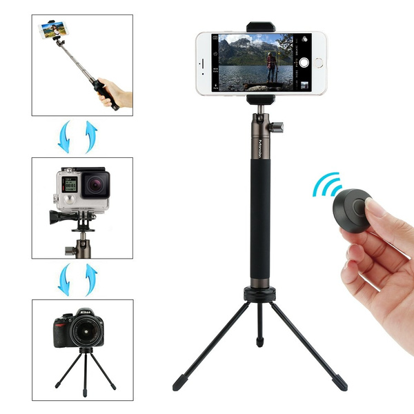 info for 3187a 98616 Moreslan Selfie Stick Tripod Stand with Bluetooth Remote Foldable  Extendable Monopod for Gopro/Camera/iPhone 8/iPhone 8 Plus/iPhone X/iPhone  7/iPhone ...