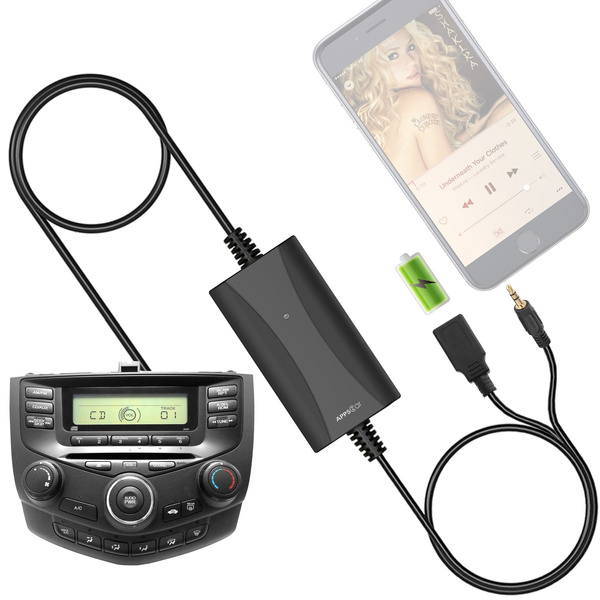 [New Generation] Car Stereo AUX Input Adapter, Honda