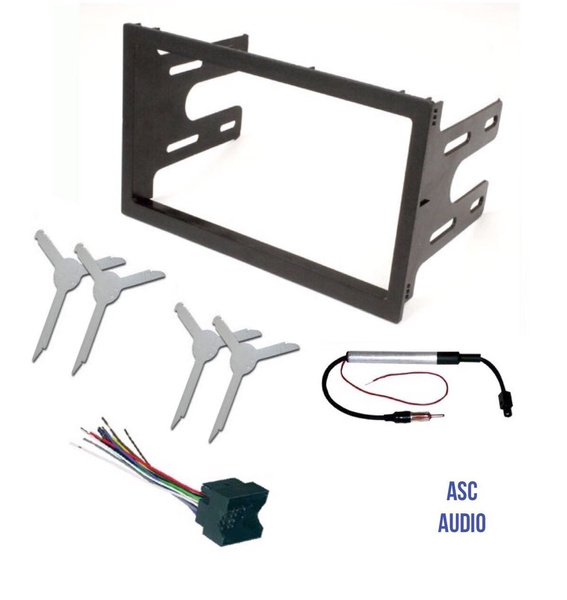ASC Audio Car Stereo Dash Kit, Wire Harness, Antenna Adapter, and Radio on vw turn signal wiring harness, vw radio removal tool, vw bus wiring harness,
