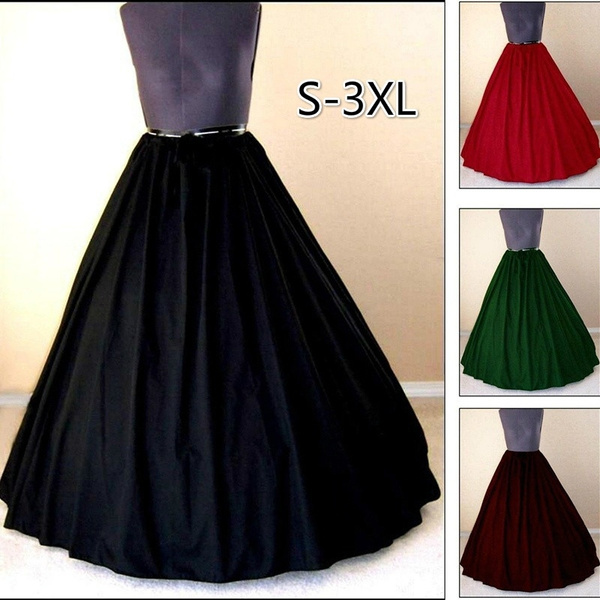 Plus Size S-3XL Medieval Dress Costume Pirate Skirt Women Fashion ...