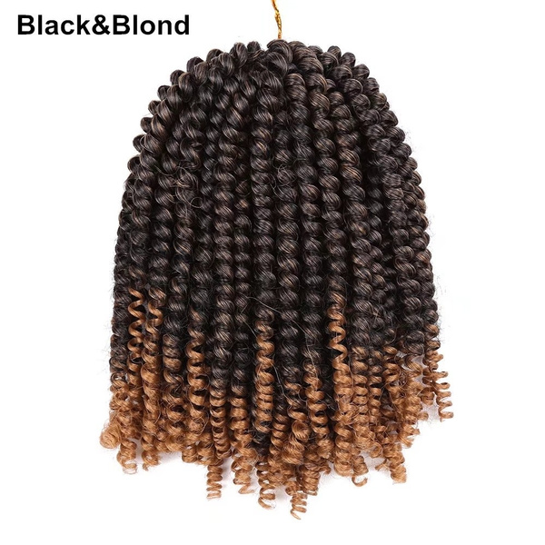 Synthetic Spring Twist Hair Extensions Nubian Crochet Braids Curly