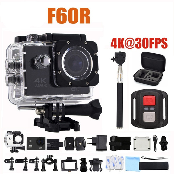 Jesiya Action Camera F60R Allwinner V3 Ultra HD 4K 30FPS 1080P 60FPS WIFI  Sport Camera 30M Waterproof Bike Helmet Mini Camera