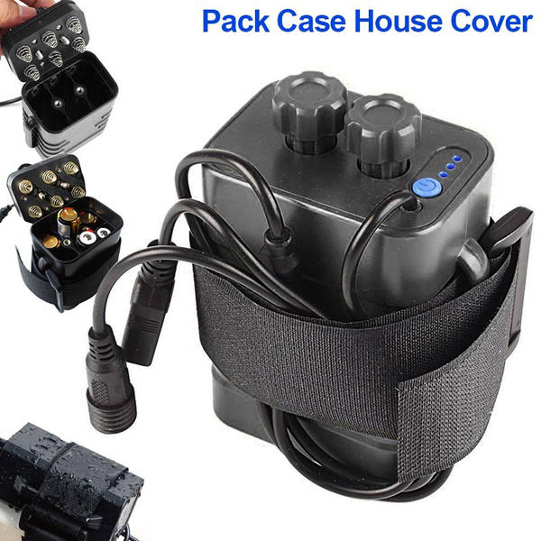8.4V 6x 18650 Waterproof Battery Pack Case House Cover For Bike Lamp Unique  *Y#