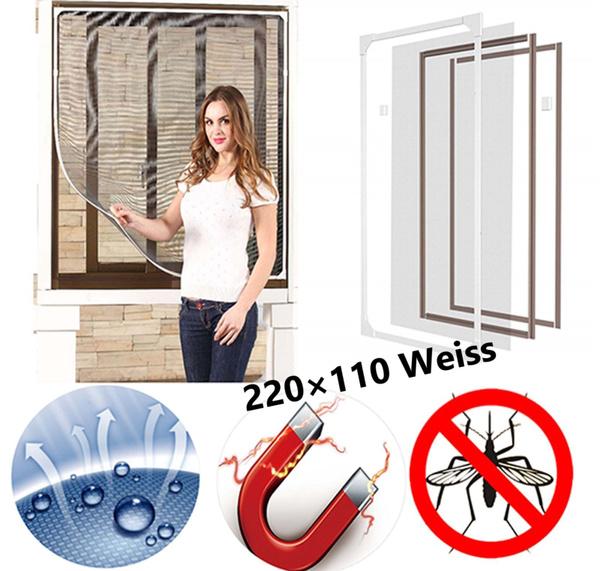 Magnet Fliegengitter Vorhang Insektenschutz Fenster Mf01 220110 Weiss