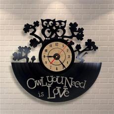 12vinylrecordwallclock, Owl, Fashion, Love