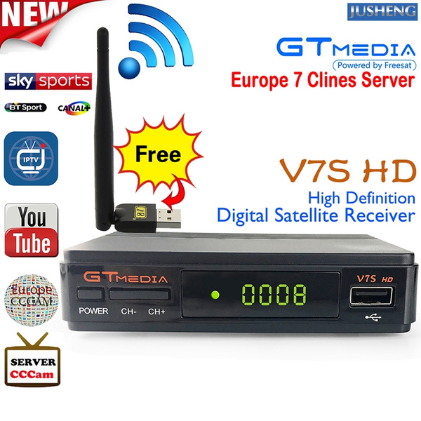 [Free USB WIFI] FREESAT V7S HD Satellite TV Receiver DVB-S2 TV Box Digital  Video Broadcasting 1080P HD Receptor Support USB Wifi PowerVu CCCam PVR EPG