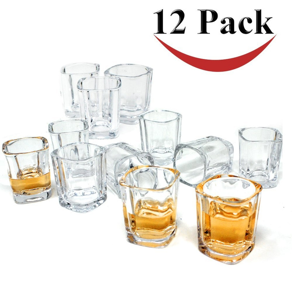 wish jalousie 12 pack clear glass 2 ounces 24 inch tall shot glass tumbler cup for coffee espresso shot jello shot glasses value set fda approved 2 oz - How Many Ounces In A Shot Glass