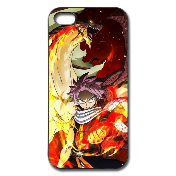 buy online 7d99a edf2b Fairy Tail Natsu and Igneel Cell Phone Case Cover for Iphone5 5s,  Iphone5c,iphone 6,Iphone 6 Plus,Iphone 7,Iphone 7 Plus,Iphone 8,Iphone 8  Plus,Iphone ...
