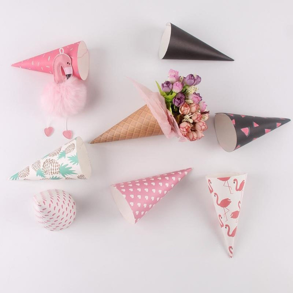 Wish 20pcs ice cream cone flowers wrapping paper self adhesive wish 20pcs ice cream cone flowers wrapping paper self adhesive gift packaging paper flower cones holder bouquet wedding decoration florist supplies mightylinksfo