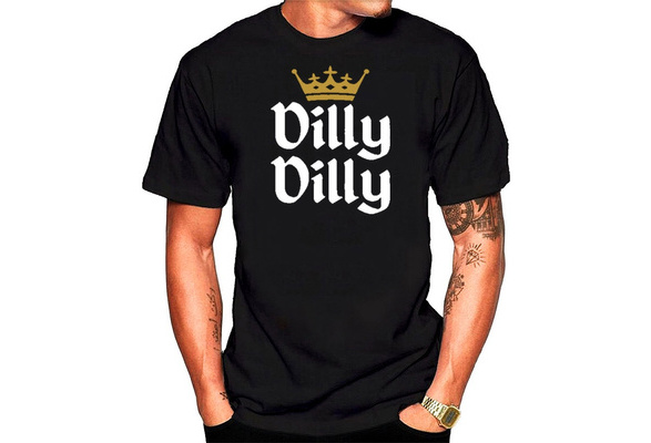 Dilly Dilly Letters Printed Casual Short Sleeve Tee Mens Creative Fashion Round Neck T-shirts Cotton Tops