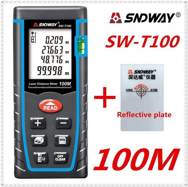 Compteur Distance Télémètre Laser 40M 60M 80M 100M Ruban Mètre Electronique