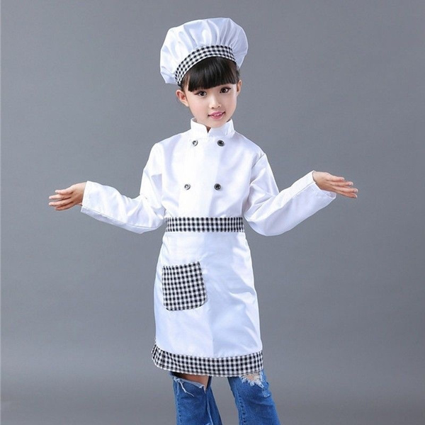 Wish | Kids Chef Costume Long Sleeve Coat Apron Cap Boys Girls Cosplay Outfit a17-0111-14d  sc 1 st  Wish & Wish | Kids Chef Costume Long Sleeve Coat Apron Cap Boys Girls ...