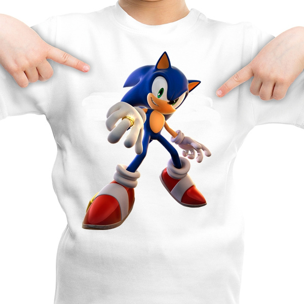Game Character Sonic The Hedgehog Tshirt Children Short Sleeve Young Boy T Shirt Wish