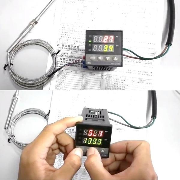 Temperature, temperaturecontroller, mountingaccessorie, leddisplay