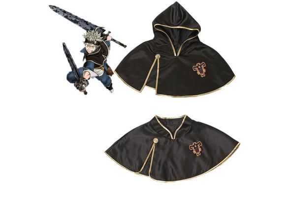 Black Clover Cloak Cosplay Costume Asta Cloak Black Bull Cape Finral Costume