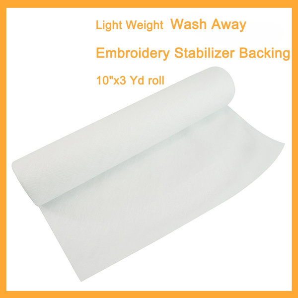Light Weight 1.5oz Wash Away Machine Embroidery Stabilizer Backing