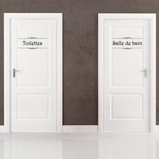 toiletdoorsignsticker, toilet, wc, Home Decor